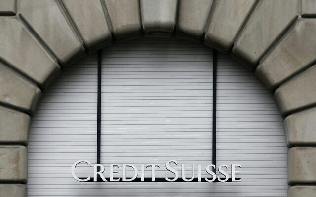 A closed window of a branch of Credit Suisse is seen in Zurich, Switzerland, May 1, 2008. (Keystone, Alessandro Della Bella/AP)