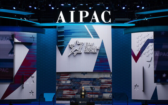 Vice President Mike Pence speaks at the the American Israel Public Affairs Committee (AIPAC) 2020 Conference, March 2, 2020 in Washington. (AP Photo/Alex Brandon)
