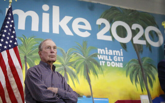 In this March 3, 2020 photo, Democratic presidential candidate former New York City Mayor Mike Bloomberg in the Little Havana neighborhood, in Miami. (AP Photo/Brynn Anderson)