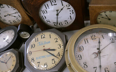 Antique clocks (AP Photo/Charles Krupa)