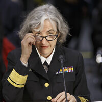 Rear Adm. Anne Schuchat, director for the National Center for Immunization and Respiratory Diseases at the Centers for Disease Control and Prevention, testifies on Capitol Hill in Washington, Tuesday, Feb. 10, 2015, before the Senate Health, Education, Labor, and Pensions Committee hearing to examine the re-emergence of vaccine-preventable diseases.  (AP Photo/J. Scott Applewhite)