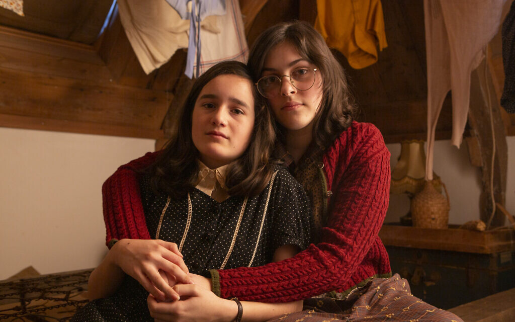 Anne and Margot Frank portrayed in 'Anne Frank Video Diary,' 2020 (Anne Frank House/Ray van der Bas)