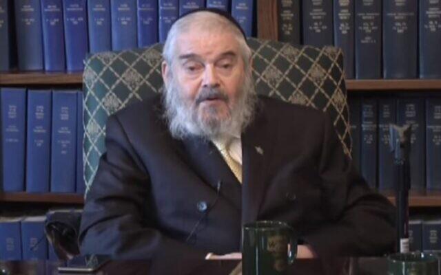 "Rabbi Avraham ""Romi"" Cohn. (Screen capture/YouTube)"