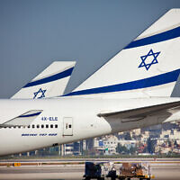 El Al planes seen at Ben Gurion International Airport, file (Moshe Shai/FLASH90)