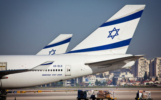 El Al planes seen at Ben Gurion International Airport, file (Moshe Shai/FLASH90)