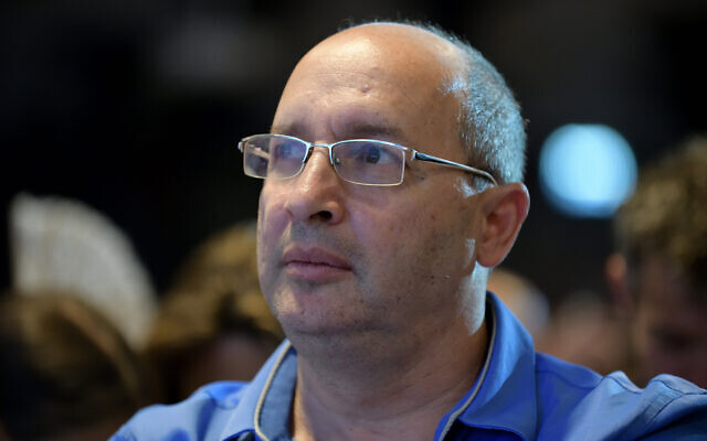 Avi Nissenkorn of  the Blue and White Party attends an election campaign event in Shefayim, on July 14, 2019. Gili Yaari/Flash90)