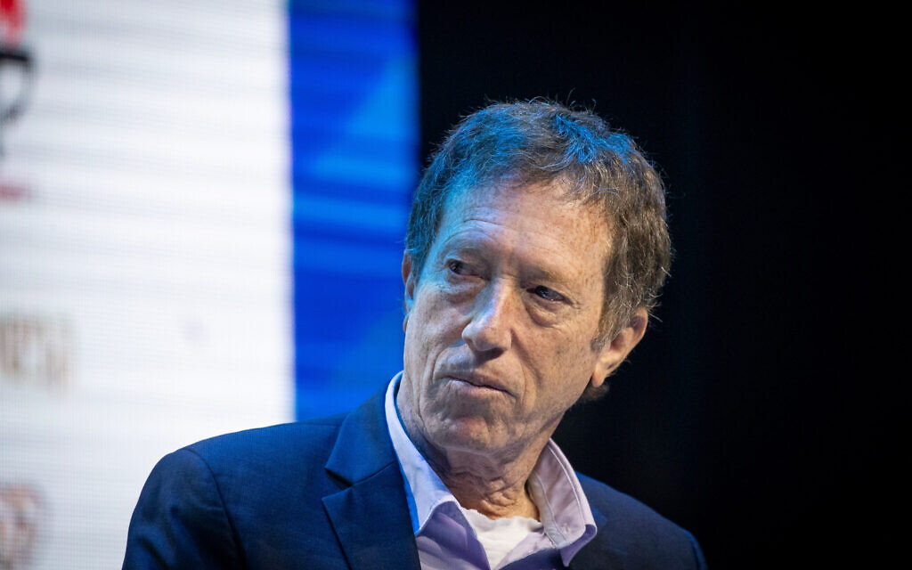 Avi Simhon, the chairman of National Economic Council, at a conference organized by the Israeli newspaper Makor Rishon in Jerusalem, December 8, 2019. (Yonatan Sindel/Flash90)