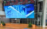 A stock market ticker screen in the lobby of the Tel Aviv Stock Exchange, in the center of Tel Aviv, March 09, 2020. Avshalom Sassoni/Flash90)