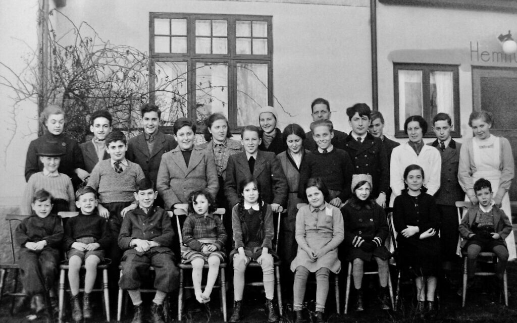 Group photo of the children at the orphanage in Tollarp, south of Sweden. Probably taken very soon after their arrival, in February 1939. Otto Ullmann is in the middle row, second from left. (Elisabeth Åsbrink)