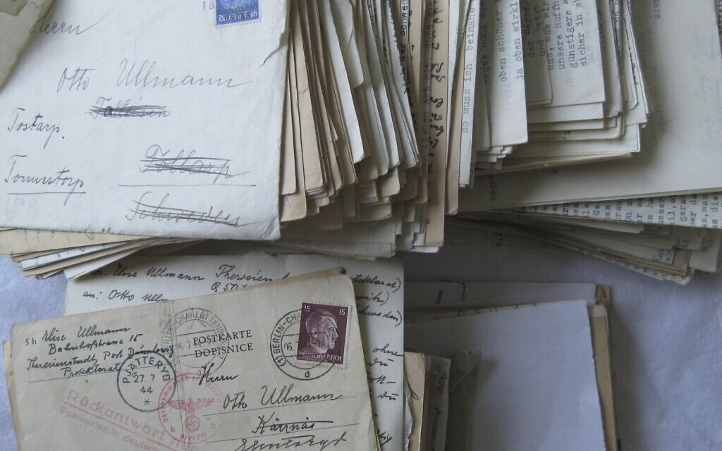 Collection of wartime letters sent to and saved Otto Ullmann (Elisabeth Åsbrink)