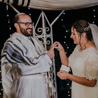 The wedding of Judah Ari Gross and Anna. (Courtesy)
