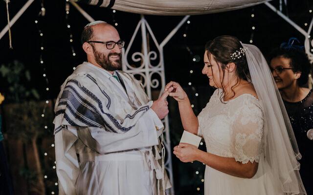The wedding of Judah Ari Gross and Anna. (Courtesy)