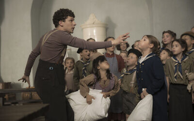 Jesse Eisenberg as Marcel Marceau in 'Resistance.' (Courtesy IFC Films)