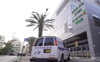 The Sharon Hospital in Petah Tikva, which has been converted into the country's first facility exclusively used to treat coronavirus  patients (screenshot: YouTube)