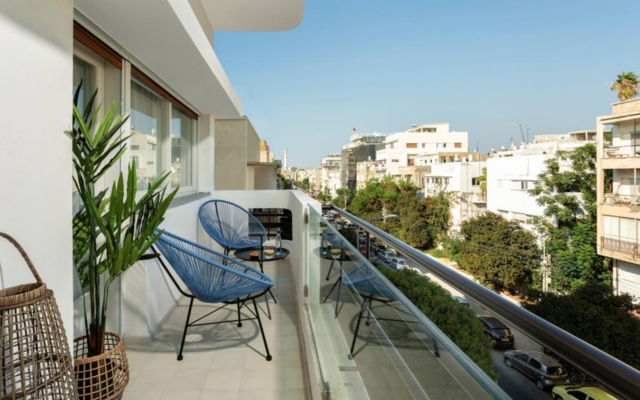 One of the apartments available for quarantine rental in Tel Aviv (Courtesy Eyal Leventhal Ben David)