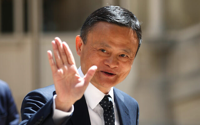 Founder of Alibaba group Jack Ma arrives at the Tech for Good summit in Paris, May 15, 2019. (AP/Thibault Camus, File)