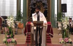 Rabbi Harold Abraham, the chief rabbi of Strasbourg, in 2017 (YouTube screenshot)