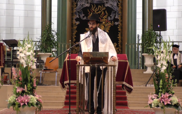 Rabbi Harold Abraham, the chief rabbi of Strasbourg, in 2017 (YouTube screenshot)