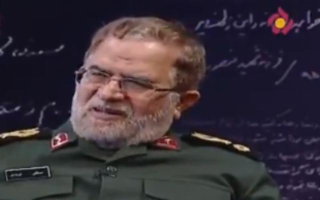 The IRGC's Gen. Mostafa Izadi (screenshot)