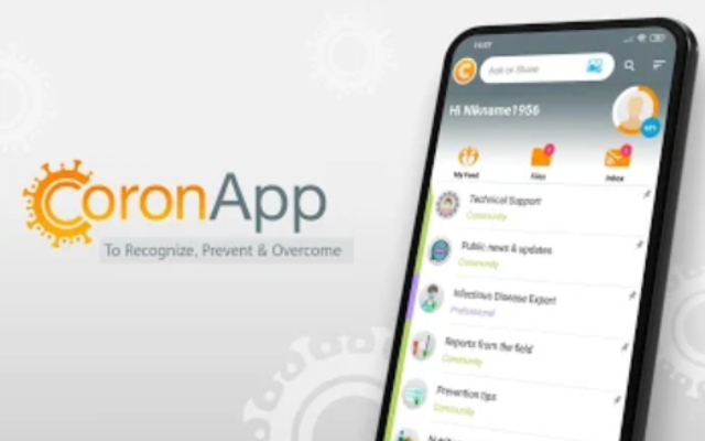 CoronApp, the new Health Ministry app for info on the coronavirus in Israel (Courtesy)
