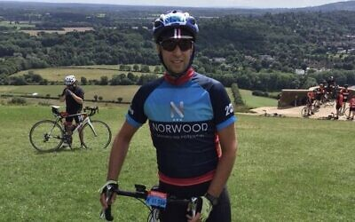 Forty-year-old Dani Schuchman regularly rides 30 miles on his bicycle. (Courtesy)