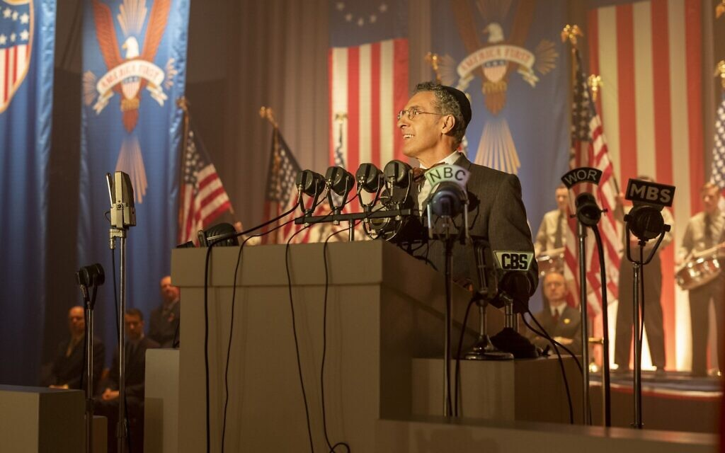 John Turturro as a rabbi and supporter of Charles Lindbergh in 'The Plot Against America.' (Michele K. Short/HBO)