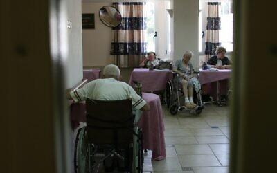 Illustrative: A nursing home for the elderly in Jerusalem, April 15, 2008. (Anna Kaplan/Flash90)