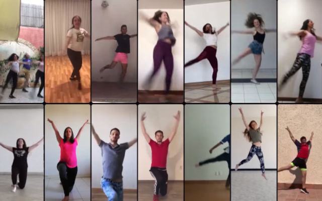 Mexican Jewish dance group Anajnu Veatem performs in an online group video (YouTube screenshot)