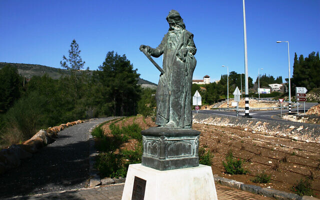 A statue of Moses in the Galilee designed by the so-called founder of Israeli art Boris Schatz. (Asaf Ben Zvi)