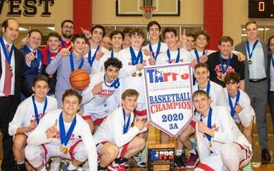 The Yavneh Academy of Dallas boys' basketball team made history becoming the first Jewish school to win a state championship in Texas history (Twitter)