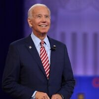In this file photo Democratic presidential hopeful former US Vice President Joe Biden gestures as he speaks during a town hall at The Novo in Los Angeles on October 10, 2019 (Robyn Beck / AFP)