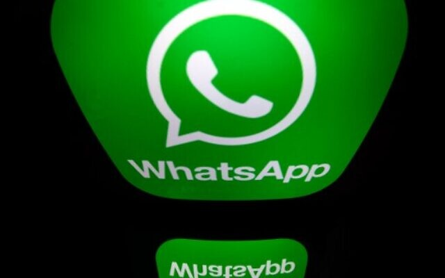 In this file photo a picture taken on December 28, 2016 in Paris shows the logo of WhatsApp mobile messaging service. (Lionel BONAVENTURE / AFP)