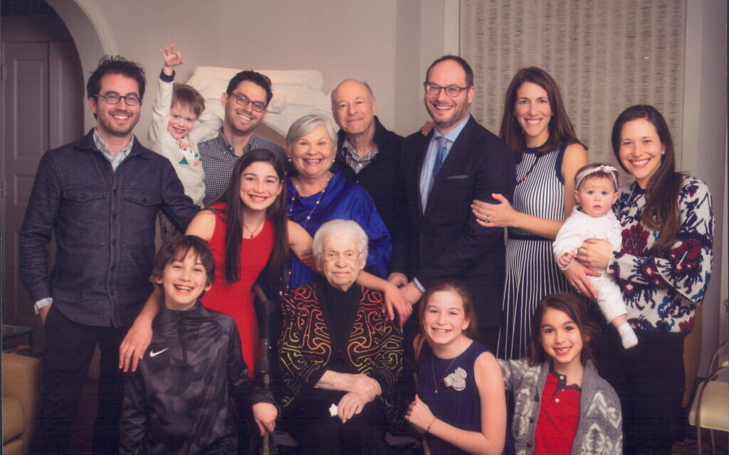 Esther Safran Foer's family poses for a photo. (Courtesy)