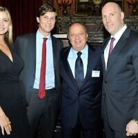 Left to right, Ivanka Trump, Jared Kushner, Stanley Chera and Rob Stuckey attend The New York Observer hosts Masters of Real Estate in New York City, Sept. 21, 2011. (Ryan McCune/Patrick McMullan via Getty Images)