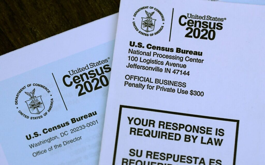 The 2020 census contains a question that is raising questions for Jews. (Photo Illustration by Justin Sullivan/Getty Images via JTA)