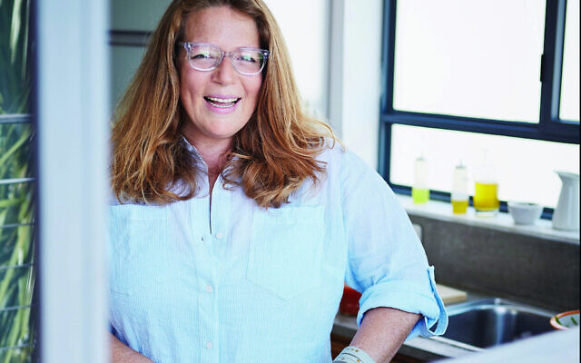 Adeena Sussman in her Tel Aviv kitchen. (Courtesy of Dan Perez)