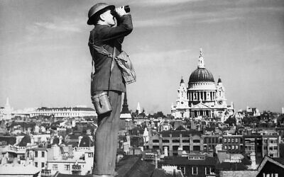 Illustrative: An air observer keeps watch during the Battle of Britain. (Public domain)