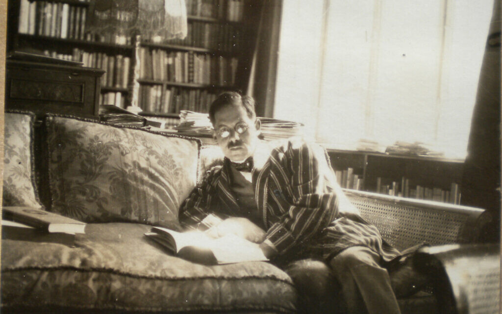 Ludwig Feuchtwanger in his study at home in Munich. (Courtesy)