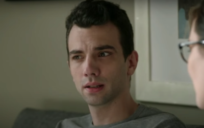 Jay Baruchel plays a heartbroken millennial trying to navigate the crazy modern world of dating in 'Man Seeking Woman.' (Screenshot from YouTube/via JTA)