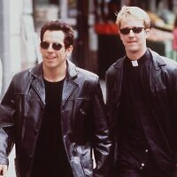 Ben Stiller (left) and Edward Norton as rabbi and priest in 'Keeping the Faith,' which premiered in 2000. (Getty Images/ via JTA)