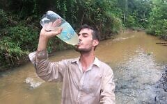 Ohad Navon, 26, in the Bolivian Amazon (courtesy)