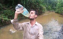 Ohad Navon, 26, in the Bolivian Amazon (courtesy)