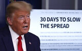 US President Donald Trump speaks about the coronavirus in the James Brady Press Briefing Room of the White House, Tuesday, March 31, 2020, in Washington. (AP Photo/Alex Brandon)