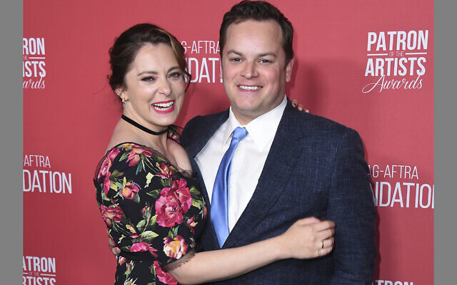 In this Nov. 8, 2018, file photo, Rachel Bloom, left, and Dan Gregor arrive at the Patron of the Artists Awards at the Wallis Annenberg Center for the Performing Arts in Beverly Hills, Calif.  (Photo by Jordan Strauss/Invision/AP, File)