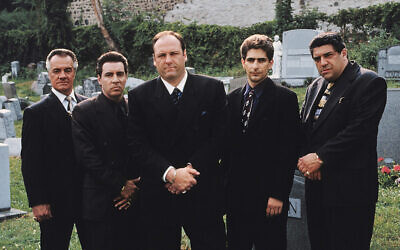 From left, Tony Sirico, Steve Van Zandt, James Gandolfini, Michael Imperioli and Vincent Pastore from 'The Sopranos,'  (HBO via AP)
