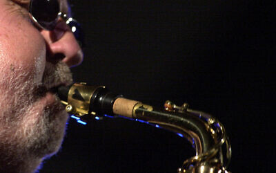 American saxophonist Lee Konitz plays his instrument during the XXXIth  International Jazz Festival in Debrecen,Hungary, June 29, 2002 (AP Photo/MTI/Tibor Olah)