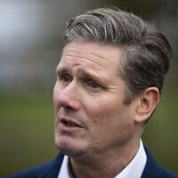 File: Labour Party lawmaker Keir Starmer speaks to the media following the launch of his campaign to succeed Jeremy Corbyn as party leader, in Stevenage, England, Sunday Jan. 5, 2020 (Aaron Chown/PA via AP)