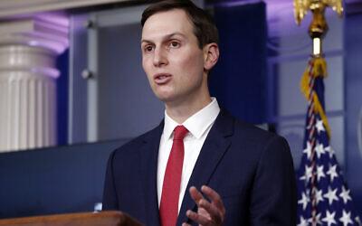 White House adviser Jared Kushner speaks in the White House, on April 2, 2020 (AP Photo/Alex Brandon)