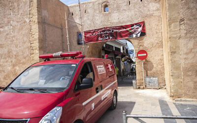 Illustrative: An ambulance in Rabat, Morocco, April 7, 2020. (AP Photo/Mosa'ab Elshamy)