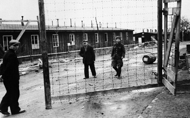 Illustrative: The entrance of the SS concentration camp at Ohrdruf in Thuringia, Germany on April 8, 1945, in which yet more damming proof of atrocities committed by Hitler's SS was uncovered when units of the fourth armoured division of General Patton's Third US army overran the district and liberated those inmates who were still alive. (AP Photo)